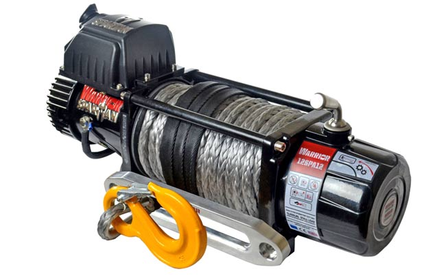 Spartan 12000 Electric Winch - Synthetic