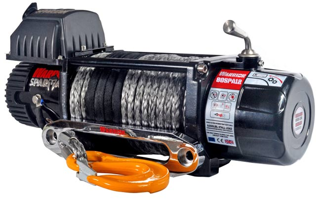 Spartan 8000 Electric Winch - Synthetic